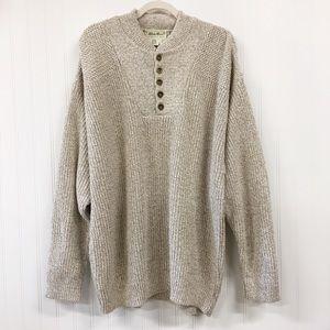 VTG | Eddie Bauer | Henley Style Fisherman Sweater